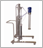Homogenizer for 300L cap with Pneumatic Lifting stand